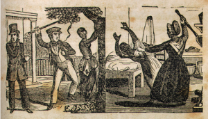 Illustration of Slave Whippings, in Narrative of the Life and Adventures of Henry Bibb, An American Slave, Written By Himself, p. 113, http://docsouth.unc.edu/neh/bibb/bibb.html.